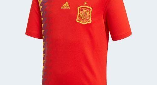Spanien-Nationalmannschaft-Weltmeisterschaft 2018 Hauptkit-Belichtung