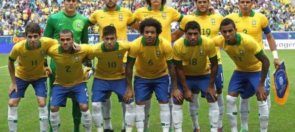 2002 Brasilien Team trat knapp in die Weltmeisterschaft ein